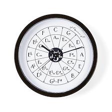 circle of fifths, kwint circle Wall Clock