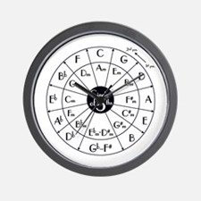 circle of fifths, kwint circle Wall Clock