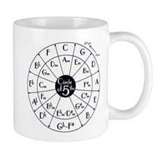 circle of fifths, kwint circle Mug