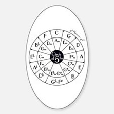 Circle of Fifths Oval Decal