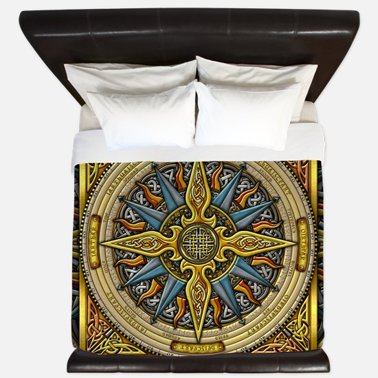 Celtic Compass King Duvet Cover