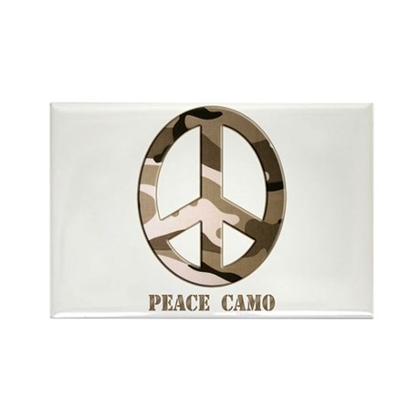 Peace Camo Rectangle Magnet (10 pack)