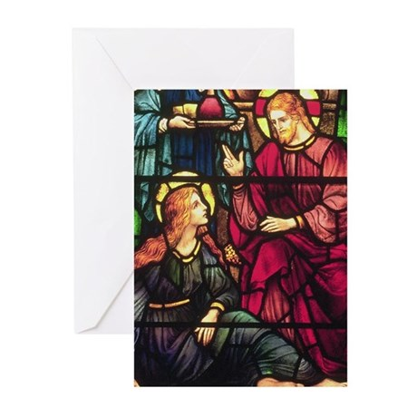Mary Magdalene and Jesus Greeting Cards (Package o