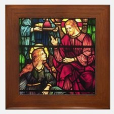 Mary Magdalene and Jesus Framed Tile