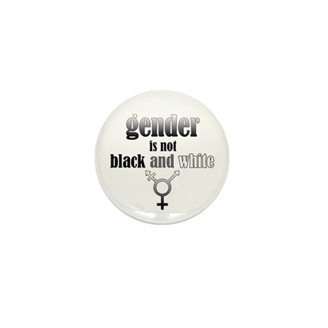 Gender Is Not Black And White Mini Button (10 pack