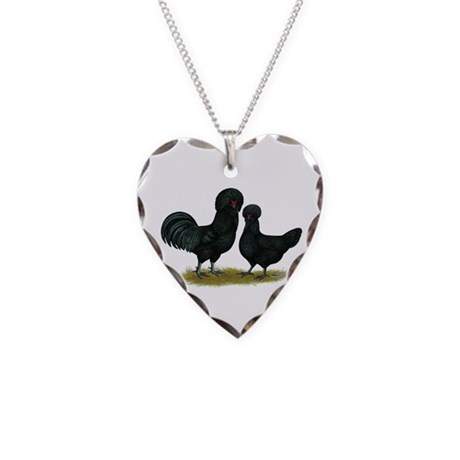 Crevecoeur Fowl Necklace Heart Charm