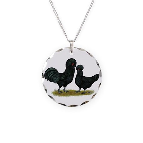Crevecoeur Fowl Necklace Circle Charm