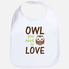 Owl You Need Is Love Bib
