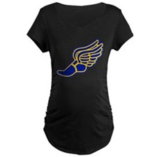 Blue and gold track foot T-Shirt