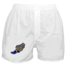 Blue and gold track foot Boxer Shorts