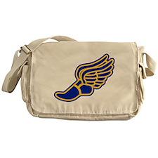 Blue and gold track foot Messenger Bag