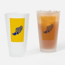 Blue and gold track foot Drinking Glass