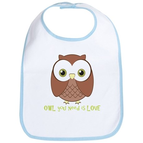 Owl You Need Is Love Bib