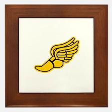 Black and Gold Track Foot Framed Tile
