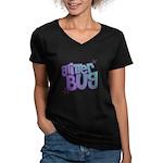 Glitterbug Women's V-Neck Dark T-Shirt