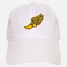 Black and Gold Track Foot Baseball Baseball Cap