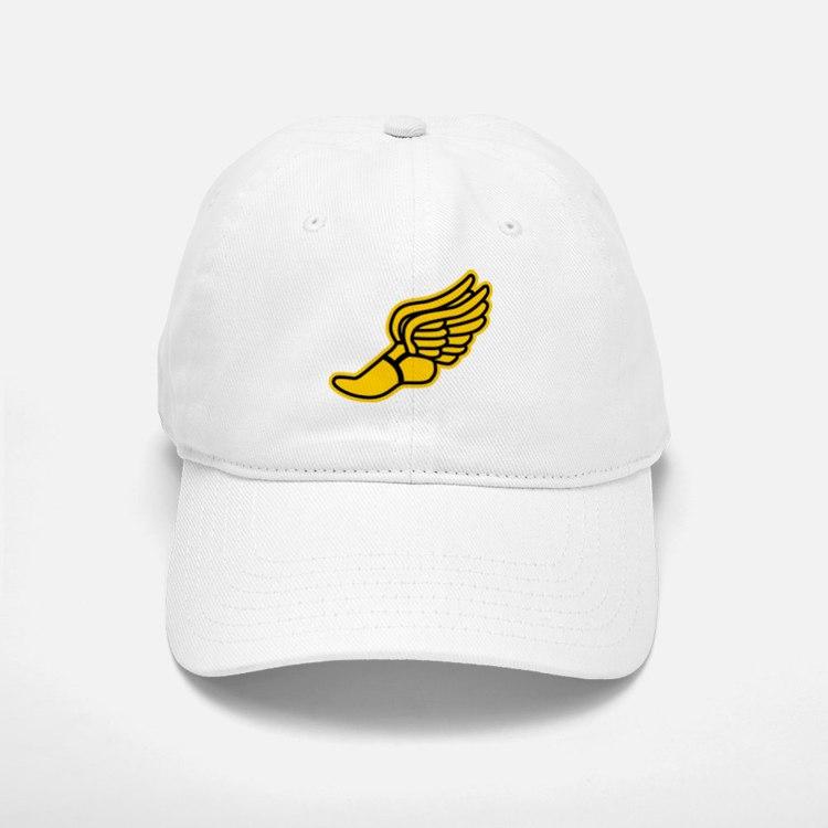 Black and Gold Track Foot Baseball Baseball Cap