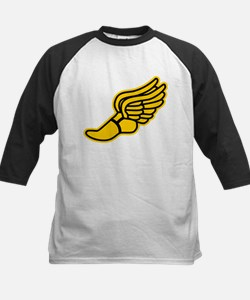 Black and Gold Track Foot Kids Baseball Jersey