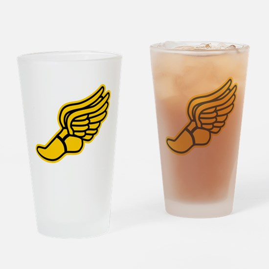 Black and Gold Track Foot Drinking Glass