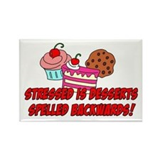 Stressed Is Desserts Rectangle Magnet