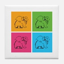 Cute elephants Tile Coaster