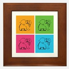 Cute elephants Framed Tile