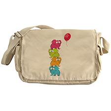 Cute elephants Messenger Bag