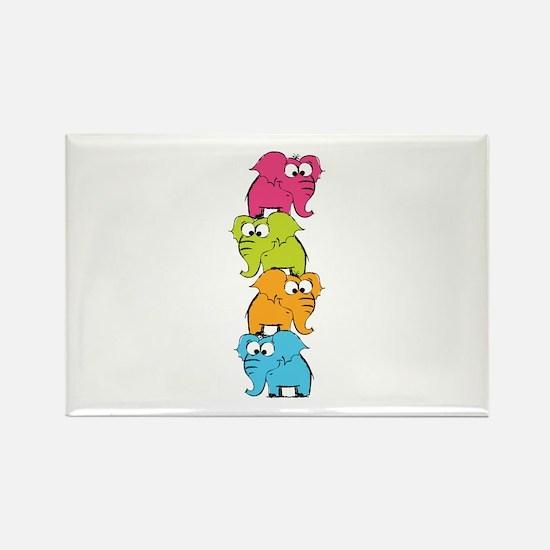 Cute elephants Rectangle Magnet (10 pack)