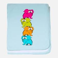 Cute elephants baby blanket
