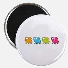 "Cute elephants 2.25"" Magnet (100 pack)"