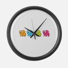Cute elephants Large Wall Clock
