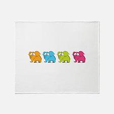 Cute elephants Throw Blanket