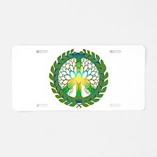 Grow Peace Aluminum License Plate