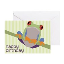 Tree Frog Birthday Greeting Card