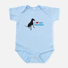 I Love My Lurcher Infant Bodysuit