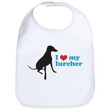 I Love My Lurcher Bib