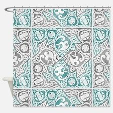Celtic Puzzle Square Shower Curtain