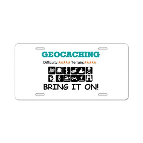 Bring it On! white Aluminum License Plate