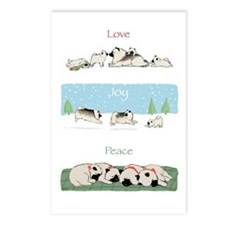 Keeshond Love Joy Peace Postcards (Pkg of 8)