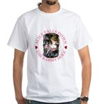 Alice Falls Down the Rabbit Hole White T-Shirt