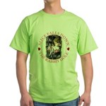 Alice Falls Down the Rabbit Hole Green T-Shirt