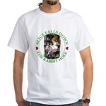 Alice Falls Down the Rabbit Hole White T-Shirt