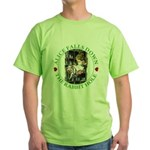 Alice Falls Down the Rabbit Hole Green T-Shirt