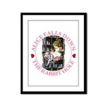 Alice Falls Down the Rabbit Hole Framed Panel Prin