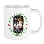 Alice Falls Down the Rabbit Hole Mug