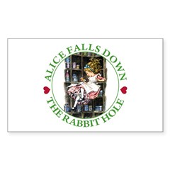 Alice Falls Down the Rabbit Hole Decal