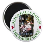 Alice Falls Down the Rabbit Hole Magnet
