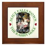 Alice Falls Down the Rabbit Hole Framed Tile