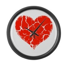 Broken Heart Large Wall Clock