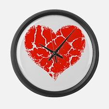Broken Heart Large Wall Clock